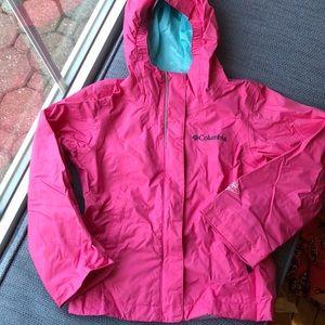 Columbia XXS girls raincoat, pink